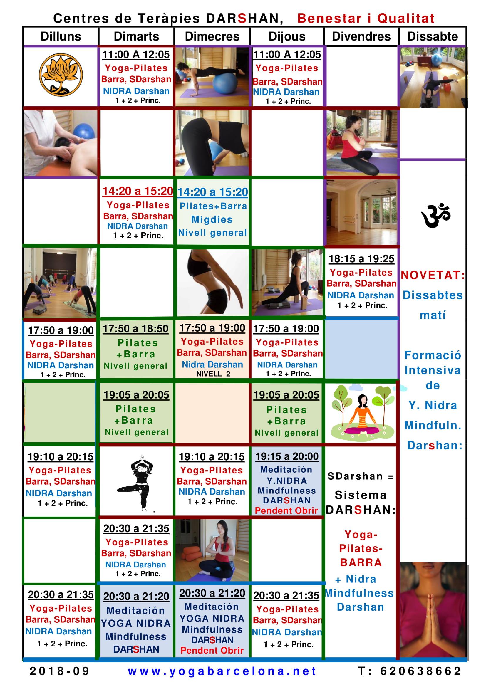 horarios yoga pilates nidra mindfulness sistema darshan barcelona 18 19-1