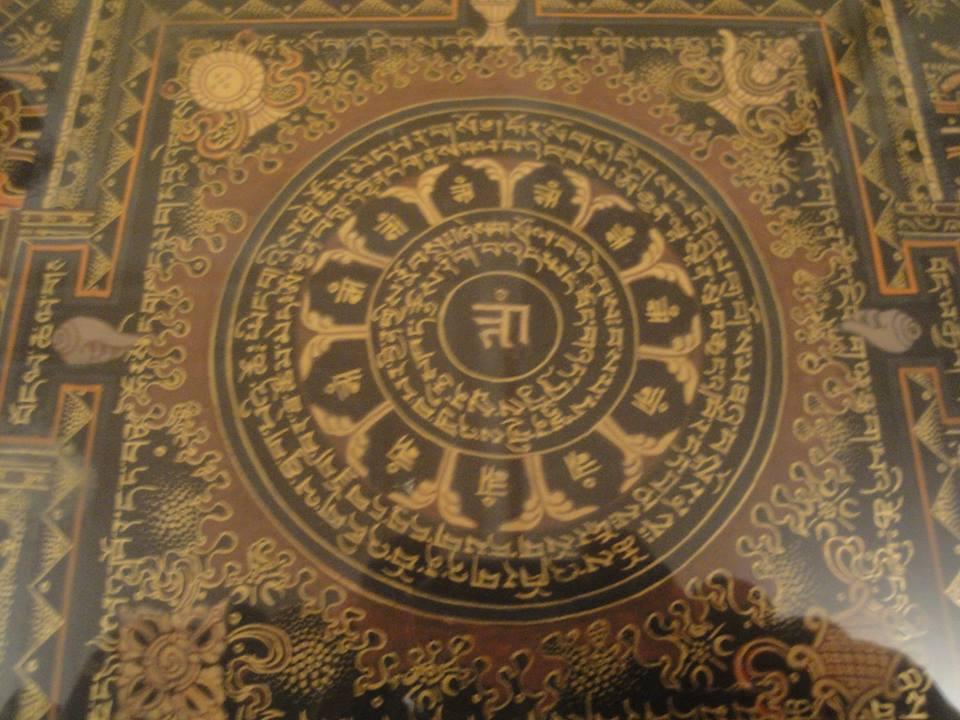 Dos Cuadros Mandalas Tibetanos en Venta, Kalachakra y mantra tibetano, Centres Darshan Barcelona