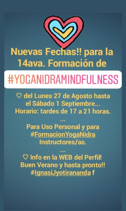 Nova Formacio Ioga Nidra i Mindfulness Barcelona Curs Intensiu 1 Setmana Agost